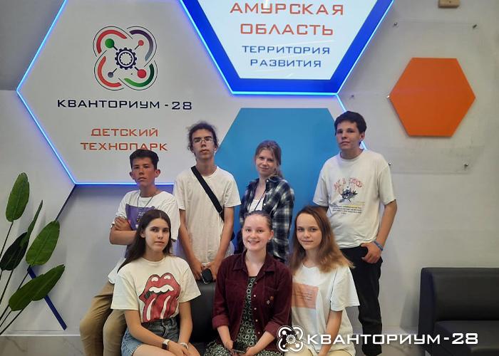 «Кванториум-28» рассказал всероссийской делегации школьников и студентов о дронах, роботах и смешанной реальности