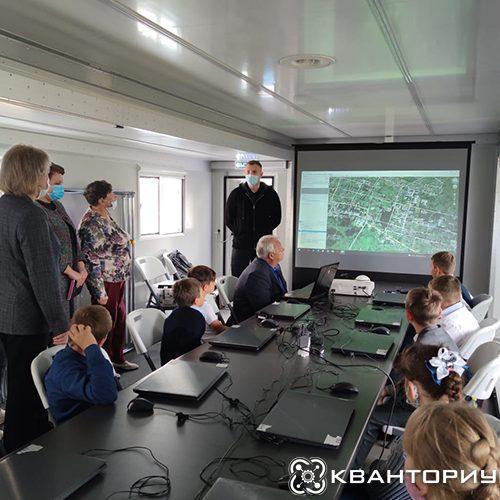 Министр образования и науки Приамурья посетила занятие мобильного кванториума в Константиновке